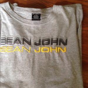 Sean John long sleeves grey t-shirt